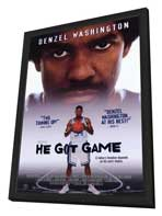 He Got Game - 11 x 17 Movie Poster - Style B - in Deluxe Wood Frame