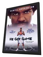 He Got Game - 27 x 40 Movie Poster - Style B - in Deluxe Wood Frame