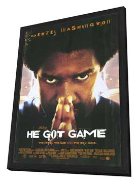 He Got Game - 27 x 40 Movie Poster - Style A - in Deluxe Wood Frame