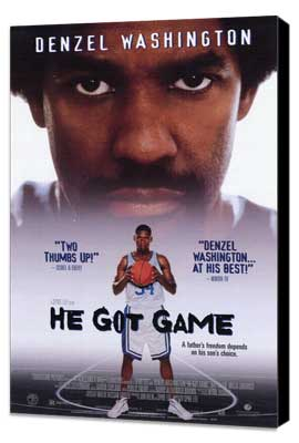 He Got Game - 11 x 17 Movie Poster - Style B - Museum Wrapped Canvas