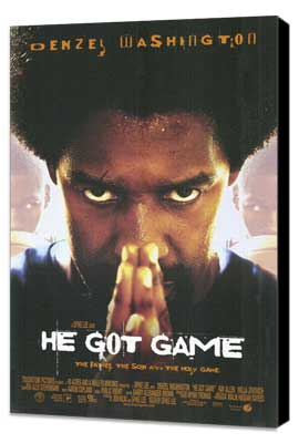 He Got Game - 27 x 40 Movie Poster - Style A - Museum Wrapped Canvas