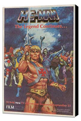 He-Man and the Masters of the Universe (TV) - 11 x 17 Movie Poster - Style B - Museum Wrapped Canvas