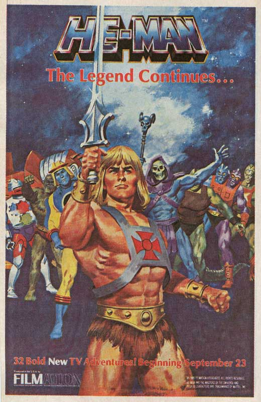 heman and the masters of the universe tv movie posters