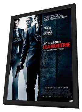 Headhunters - 11 x 17 Movie Poster - Norwegian Style C - in Deluxe Wood Frame