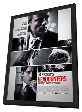 Headhunters - 11 x 17 Movie Poster - Norwegian Style D - in Deluxe Wood Frame