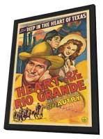 Heart of the Rio Grande - 11 x 17 Movie Poster - Style A - in Deluxe Wood Frame