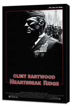Heartbreak Ridge - 27 x 40 Movie Poster - Style C - Museum Wrapped Canvas