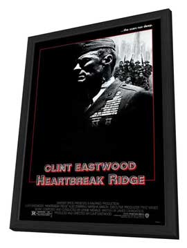 Heartbreak Ridge - 27 x 40 Movie Poster - Style C - in Deluxe Wood Frame