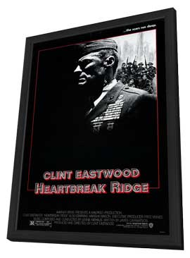 Heartbreak Ridge - 11 x 17 Movie Poster - Style B - in Deluxe Wood Frame
