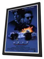 Heat - 27 x 40 Movie Poster - Style A - in Deluxe Wood Frame