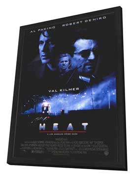 Heat - 27 x 40 Movie Poster - Style E - in Deluxe Wood Frame