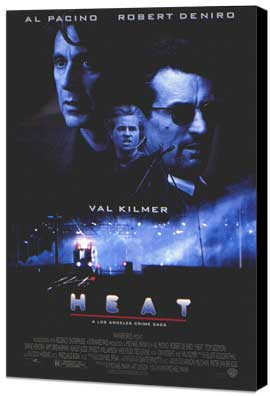 Heat - 11 x 17 Movie Poster - Style B - Museum Wrapped Canvas