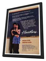 Heathers - 27 x 40 Movie Poster - Style A - in Deluxe Wood Frame