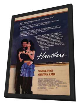 Heathers - 11 x 17 Movie Poster - Style A - in Deluxe Wood Frame