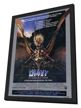 Heavy Metal - 27 x 40 Movie Poster - Style D - in Deluxe Wood Frame