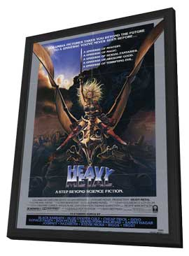 Heavy Metal - 11 x 17 Movie Poster - Style A - in Deluxe Wood Frame