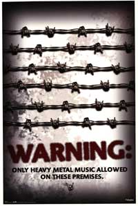Heavy Metal Warning - Music Poster - 22 x 34 - Style A