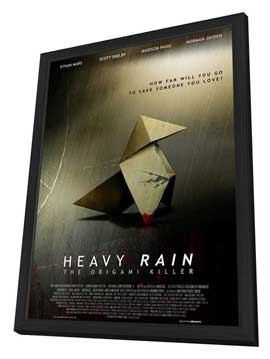 Heavy Rain: The Origami Killer - 11 x 17 Movie Poster - Style A - in Deluxe Wood Frame