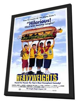 Heavyweights - 27 x 40 Movie Poster - Style A - in Deluxe Wood Frame
