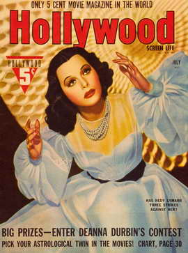 Hedy Lamarr - 11 x 17 Hollywood Magazine Cover 1930's Style A