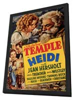Heidi - 11 x 17 Movie Poster - Style B - in Deluxe Wood Frame