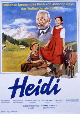 Heidi - 11 x 17 Movie Poster - German Style A