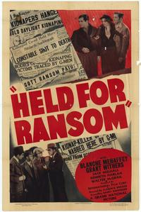 Held for Ransom - 27 x 40 Movie Poster - Style A