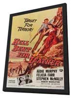 Hell Bent for Leather - 11 x 17 Movie Poster - Style A - in Deluxe Wood Frame