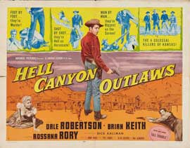 Hell Canyon Outlaws - 11 x 14 Movie Poster - Style B