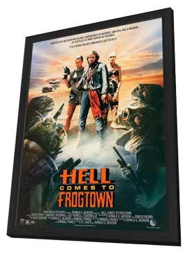 Hell Comes to Frogtown - 11 x 17 Movie Poster - Style A - in Deluxe Wood Frame