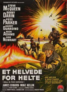 Hell Is for Heroes - 11 x 17 Movie Poster - Danish Style A