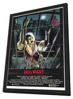 Hell Night - 11 x 17 Movie Poster - Style A - in Deluxe Wood Frame