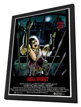 Hell Night - 27 x 40 Movie Poster - Style A - in Deluxe Wood Frame