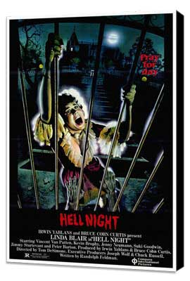 Hell Night - 27 x 40 Movie Poster - Style A - Museum Wrapped Canvas