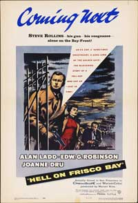 Hell on Frisco Bay - 14 x 22 Movie Poster - Window Card
