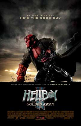 Hellboy 2: The Golden Army - 11 x 17 Movie Poster - Style M