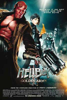 Hellboy 2: The Golden Army - 11 x 17 Movie Poster - Style N