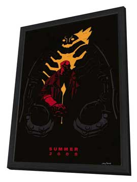 Hellboy 2: The Golden Army - 27 x 40 Movie Poster - Style A - in Deluxe Wood Frame