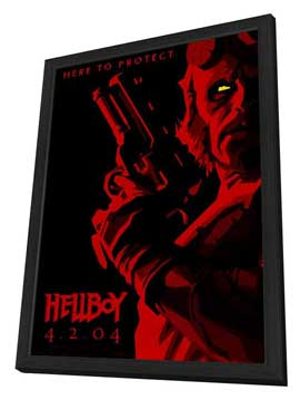 Hellboy - 27 x 40 Movie Poster - Style A - in Deluxe Wood Frame