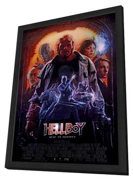 Hellboy - 11 x 17 Movie Poster - Style B - in Deluxe Wood Frame