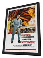 Hellfighters - 27 x 40 Movie Poster - Style B - in Deluxe Wood Frame