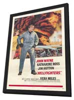 Hellfighters - 11 x 17 Movie Poster - Style A - in Deluxe Wood Frame