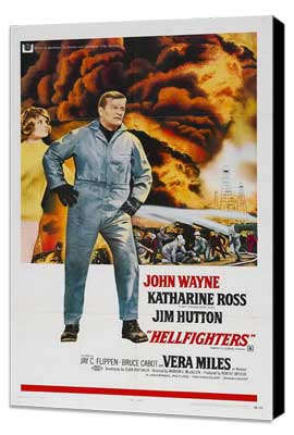 Hellfighters - 27 x 40 Movie Poster - Style B - Museum Wrapped Canvas