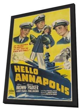 Hello, Annapolis - 11 x 17 Movie Poster - Style A - in Deluxe Wood Frame