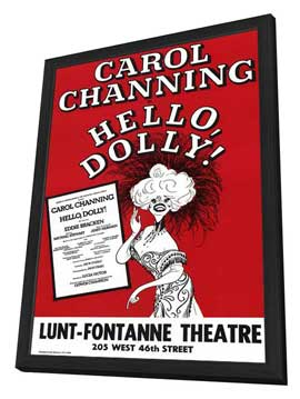 Hello Dolly (Broadway) - 27 x 40 Poster - Style A - in Deluxe Wood Frame