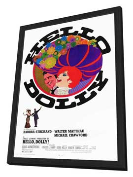 Hello, Dolly! - 11 x 17 Movie Poster - Style C - in Deluxe Wood Frame