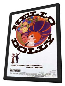 Hello, Dolly! - 27 x 40 Movie Poster - Style B - in Deluxe Wood Frame