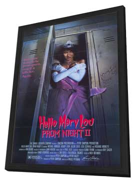 Hello Mary Lou: Prom Night 2 - 27 x 40 Movie Poster - Style B - in Deluxe Wood Frame