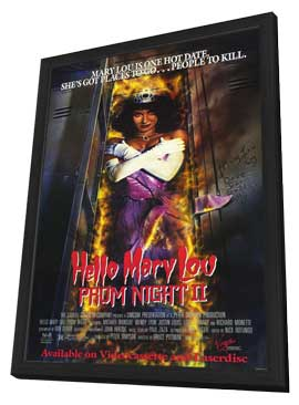 Hello Mary Lou: Prom Night 2 - 11 x 17 Movie Poster - Style B - in Deluxe Wood Frame
