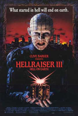 Hellraiser 3: Hell on Earth - 27 x 40 Movie Poster - Style B
